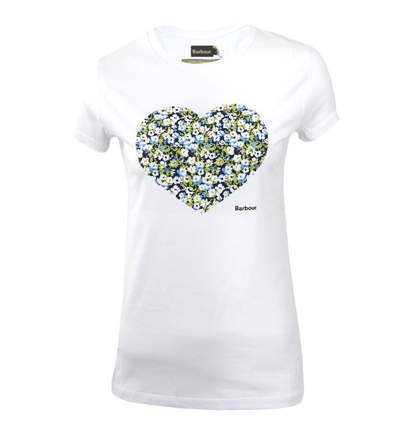 BARBOUR Heart T-Shirt, White