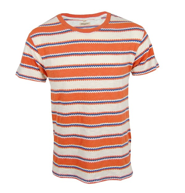Regular Tee, Zig Zag Orange Rust
