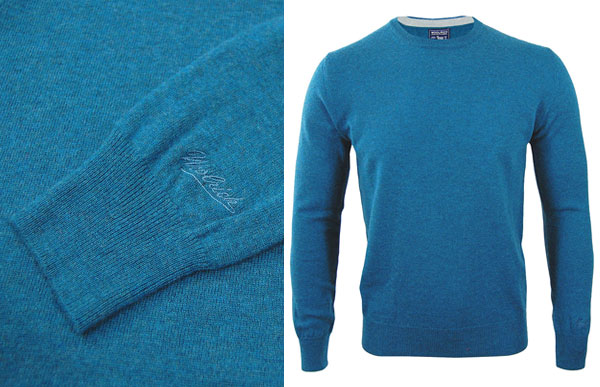 Woolrich Mill Sweat Turquoise